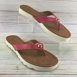 Coach Shelly Sandals Red Size 9B